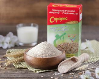 Продукция из пророщенного зерна пшеницы и Иван-чай.