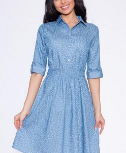7000 Платье Голубой