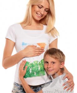 """Футболка """"Зайки"""" для беременных и кормящих мам"""