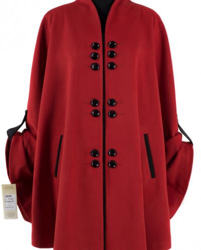 01-4910 Пальто женское демисезонное Кашемир Терракот