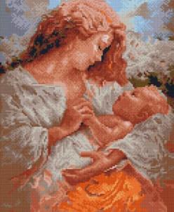 Радость материнства - алмазная мозаика