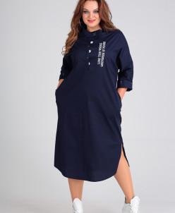 платье Andrea Style Артикул: 00189 синий