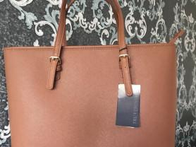 Tru Trussardi. оригинал .сумка из натуральной сафьяновой кожи