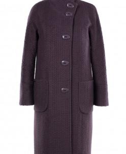 01-7471 Пальто женское демисезонное Букле Темно-сиреневый