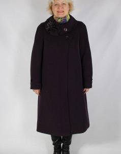 Пальто утепленное Кашемир Баклажан