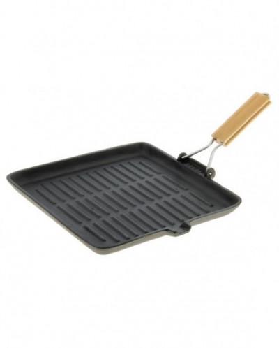 Сковорода гриль со съемной ручкой 28х28 см