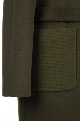 01-8182 Пальто женское демисезонное (пояс) Микроворса/Рубчик