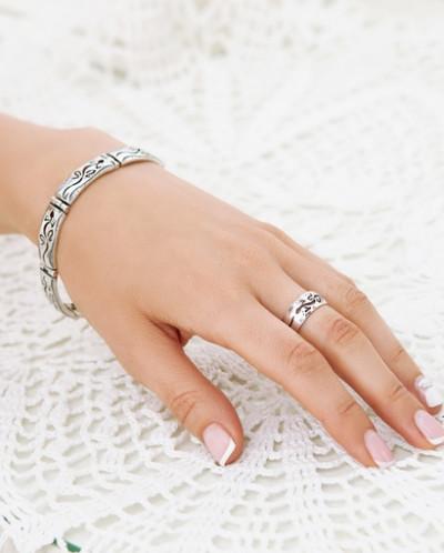 Кольцо из серебра Ящерица Юмила