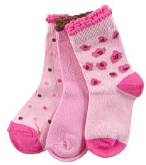 Luvable Friends Носки для девочек, 3 шт