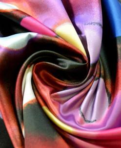 Ткань атлас разноцветные мечты