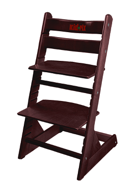 Регулируемый растущий детский стул Kid-Fix  Махагон