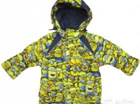 Куртка осенняя миньоны,104-110 рост+штаны
