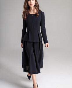 Р1169 костюм (жакет, юбка) Цвет:темно-синий