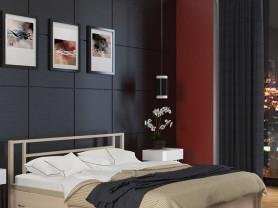 Двуспальная металлическая кровать Титан 2
