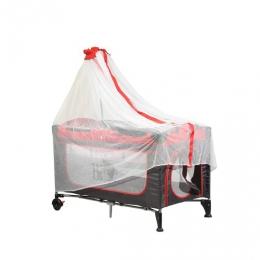 Манеж-кровать с балдахином, размер 110 х 76 см., пеленальный