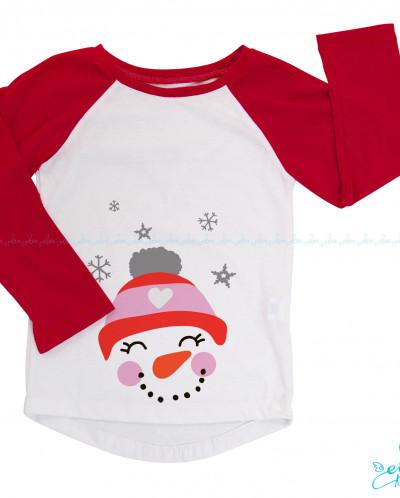 Реглан двухцветный легкий Счастливый Снеговичек