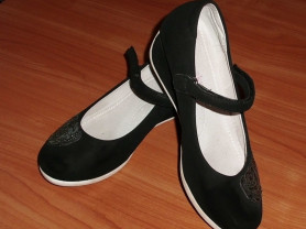 Туфли черные для девочки Baby Sky р.33 ст.21 см