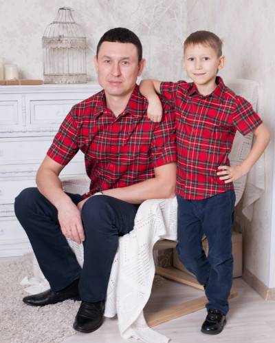 "Рубашка мужская ""Шотландка"""