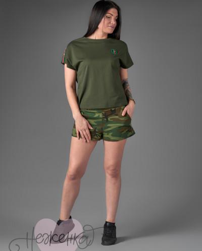Женский костюм ЖК 015 (хаки+камуфляж)