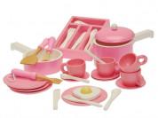 Игровой набор посуды из дерева, 36 предметов