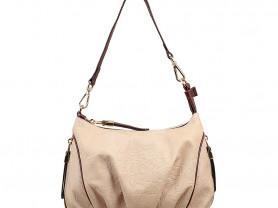 Новая сумка из натуральной кожи Бежевая Италия