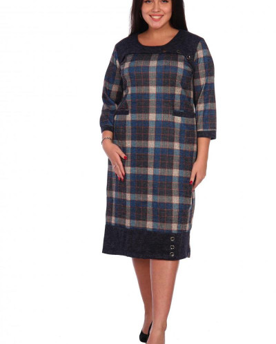 Платье Паула (3308). Расцветка: клетка