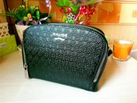 Новая оригинальная черная кожаная сумка Италия