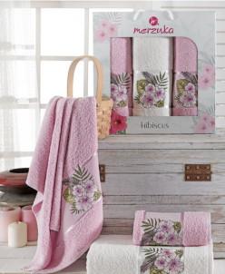 9725 Комплект полотенец MERZUKA махровые в коробке (50х90-2