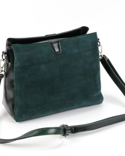 Женская кожаная сумка 1172-В Грин
