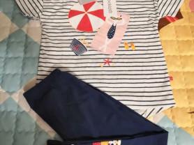 Комплект футболка+леггинсы 104-110 crockid