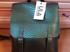 Новый кожаный рюкзак изумруд