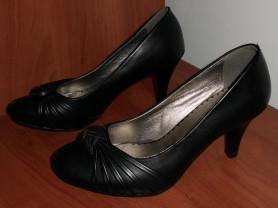 Туфли с плетением черные новые р.36 стелька 24