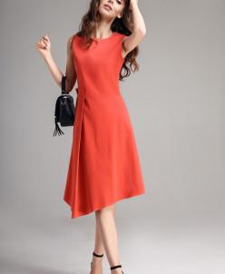 Р1129 платье  Цвет: алый