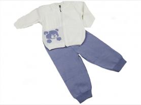 Костюм вязаный для новорожденных ТЕДДИ