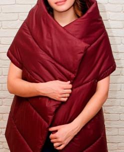 Женская жилетка-одеяло