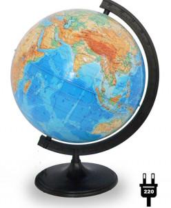 Глобус физический диаметром 320 мм, с подсветкой