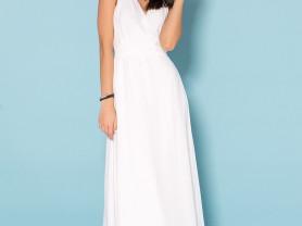 Красивое платье белого цвета 42р