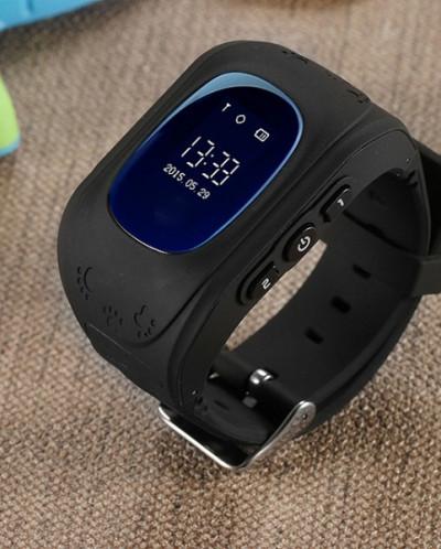 Детские часы GPS трекер Smart Baby Watch Q50, черные