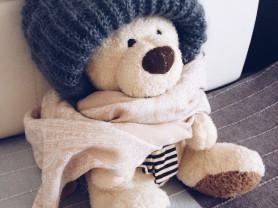 Мохеровые шапки ручной вязки