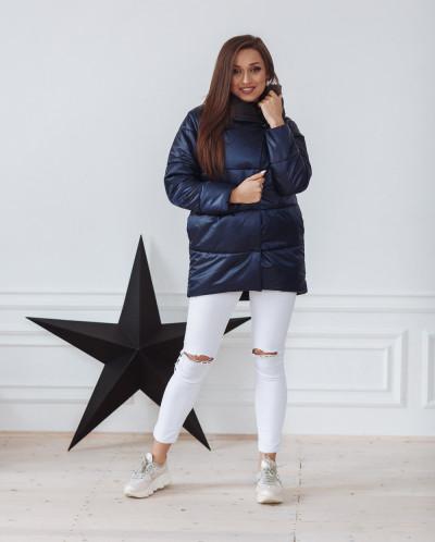 Куртка женская демисезонная 22260 (сине-черный)
