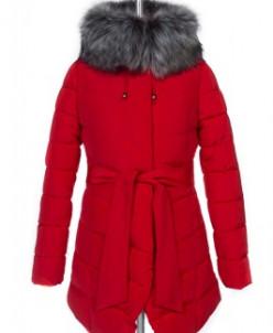 05-0511 Куртка зимняя (Синтепух 370) пояс Плащевка Красный
