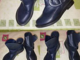 Ботинки стильные цвет темно-синий р. 36, одеты пар
