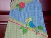 Сарафан с попугаем (новый)
