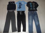 Пакет брюки жилетка футболка джинсы лонг штаны 6-9