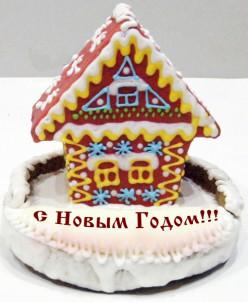 Пряничный домик в целлофане (1650 гр)