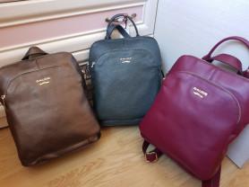 Новые кожаные вместительные рюкзаки Италия