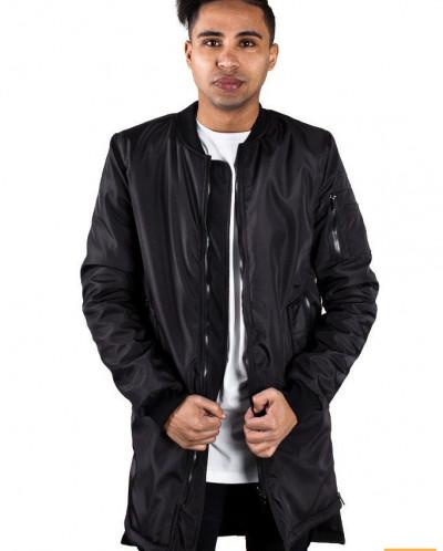 Пальто с молниями черное 25974