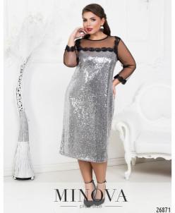 Платье №1605-серебро