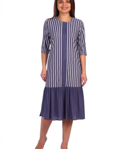 Платье Хельга  Расцветка: синее