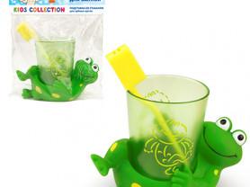 Подставка со стаканом для зубных щеток ЗВЕРЮШКИ